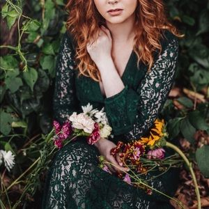 Green Lace Maxi Forever 21